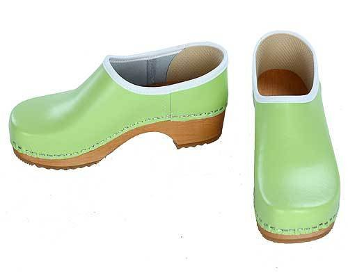 Clogs closed mint green