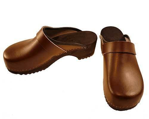 Wooden clogs brown