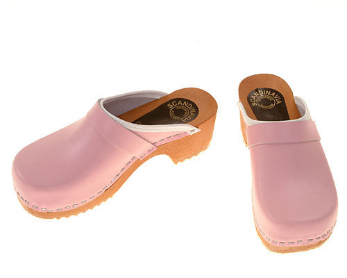 Holzclogs rosa
