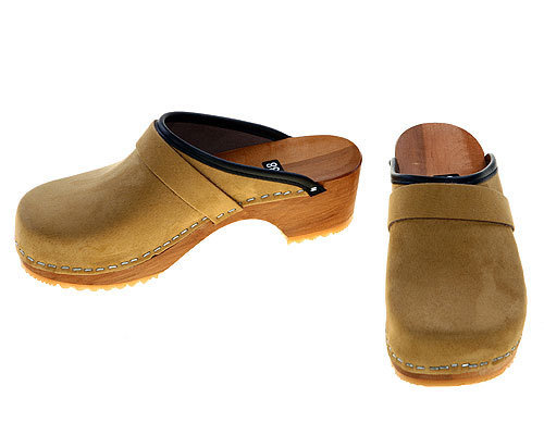 Velourleder Clogs