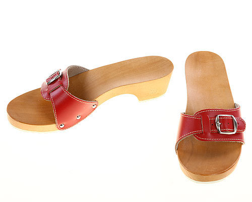 Sandals red with heel