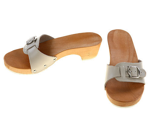 Sandals beige with heel