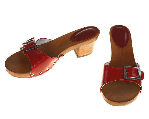 One strip Sandal red