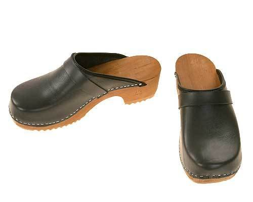 Wooden clogs grey