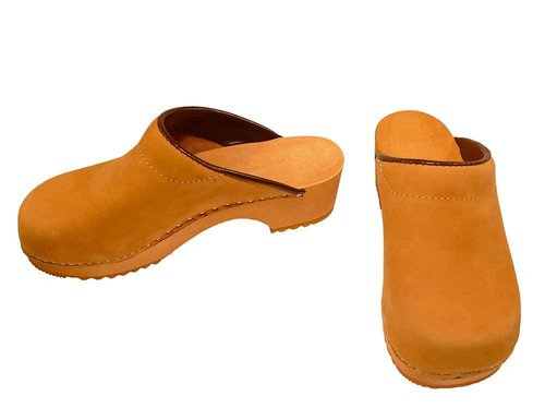 Nubuk leather Clogs honey color